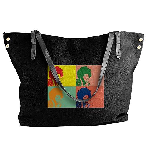 Lady Maverick Plus Costumes (Jimi Hendrix Guitarist Folding Shoulder Bag For Women Black)