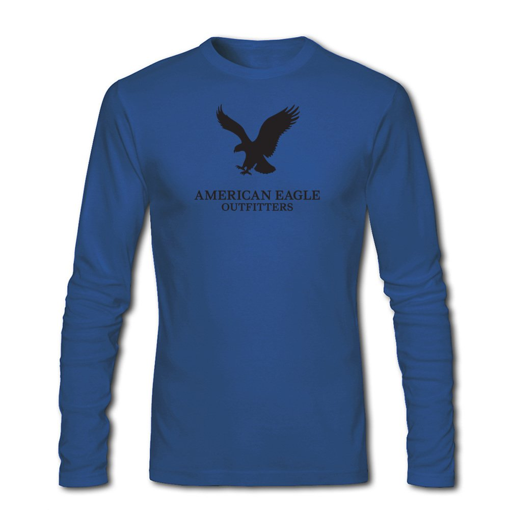 c252c89129cd0 Amazon.com  American Eagle Outfitters Logo for Men Printed Long Sleeve  Cotton T-Shirt  Clothing
