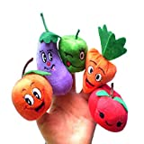Dreaman Fruits and vegetables Finger Puppet Plush Child Baby Early Education Toys Gift