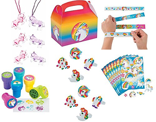 Unicorn Party Favor Bundle Set For 12