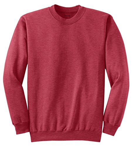 (Joe's USA Adult Classic Crewneck Sweatshirt, S -RedHeather)