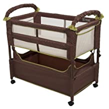 Arm's Reach Concepts Clear-Vue Co-Sleeper, Cocoa/Fern