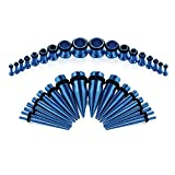 vcmart 14G-00G 36pcs Ear Gauges Stretching Kit