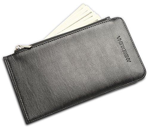rfid-blocking-long-bifold-genuine-leather-wallet-credit-card-holder-for-men-black