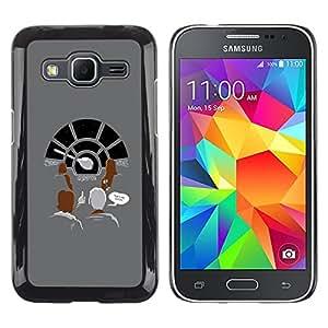 Shell-Star Arte & diseño plástico duro Fundas Cover Cubre Hard Case Cover para Samsung Galaxy Core Prime / SM-G360 ( Millennium Space Ship )