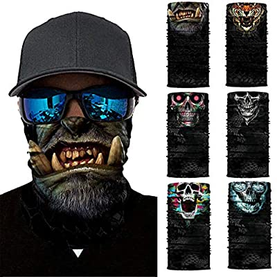 Simayixx Men's Face Protection Cover for Fishing Hunting Yard Work Motorcycle Unisex Turban Sunscreen Windproof Dust (C, Free Size): Clothing