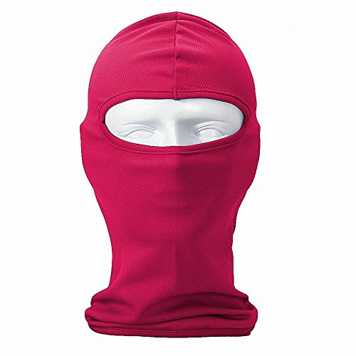 Maoko Lightweight Windproof Motorcycle Balaclava- Full Hood Face Ski Mask Airsoft for Cycling,Running,Skiing Rose