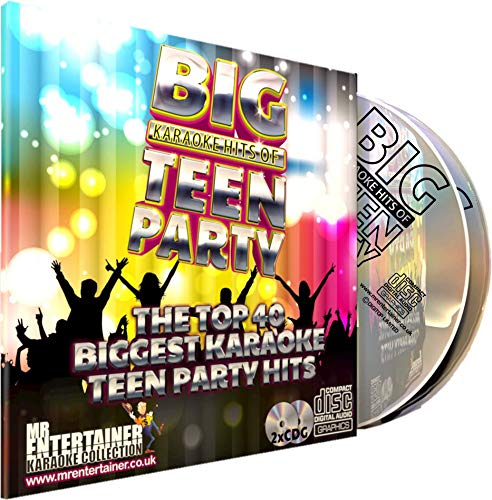 Mr Entertainer Big Karaoke Hits of Teen Party - Double CD+G Pack. 40 Greatest Teenager Party Songs. fiesta de adolescentes: Mr Entertainer Karaoke: Amazon.es: Música