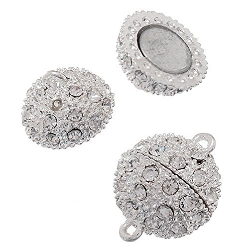 10mm Silver Magnetic Jewelry Clasp product image