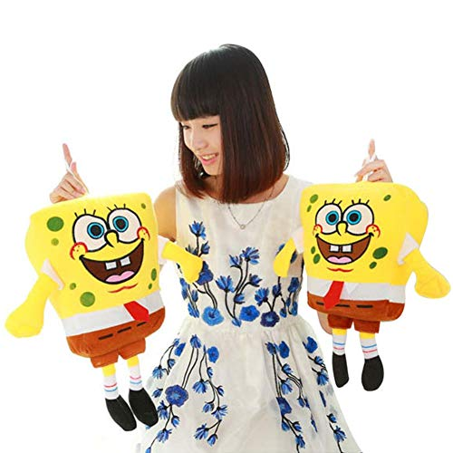 Pilot-Y 40cm Sponge Bob Baby Toy Spongebob Plush Toy Soft Anime Doll for Kids Toys Cartoon Figure Cushion