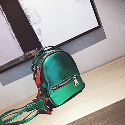 PU Sac Dos Sac la Mini coréenne de personnalité à WSLMHH la Version Casual Sac marée Femme Mode de Sauvage à bandoulière Vert Petit RZ5xwxUq