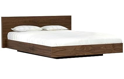 4e6c73c0357 ANGEL FURNITURE Sheesham Wood Queen Size Platform Non-Storage Bed (Brown)