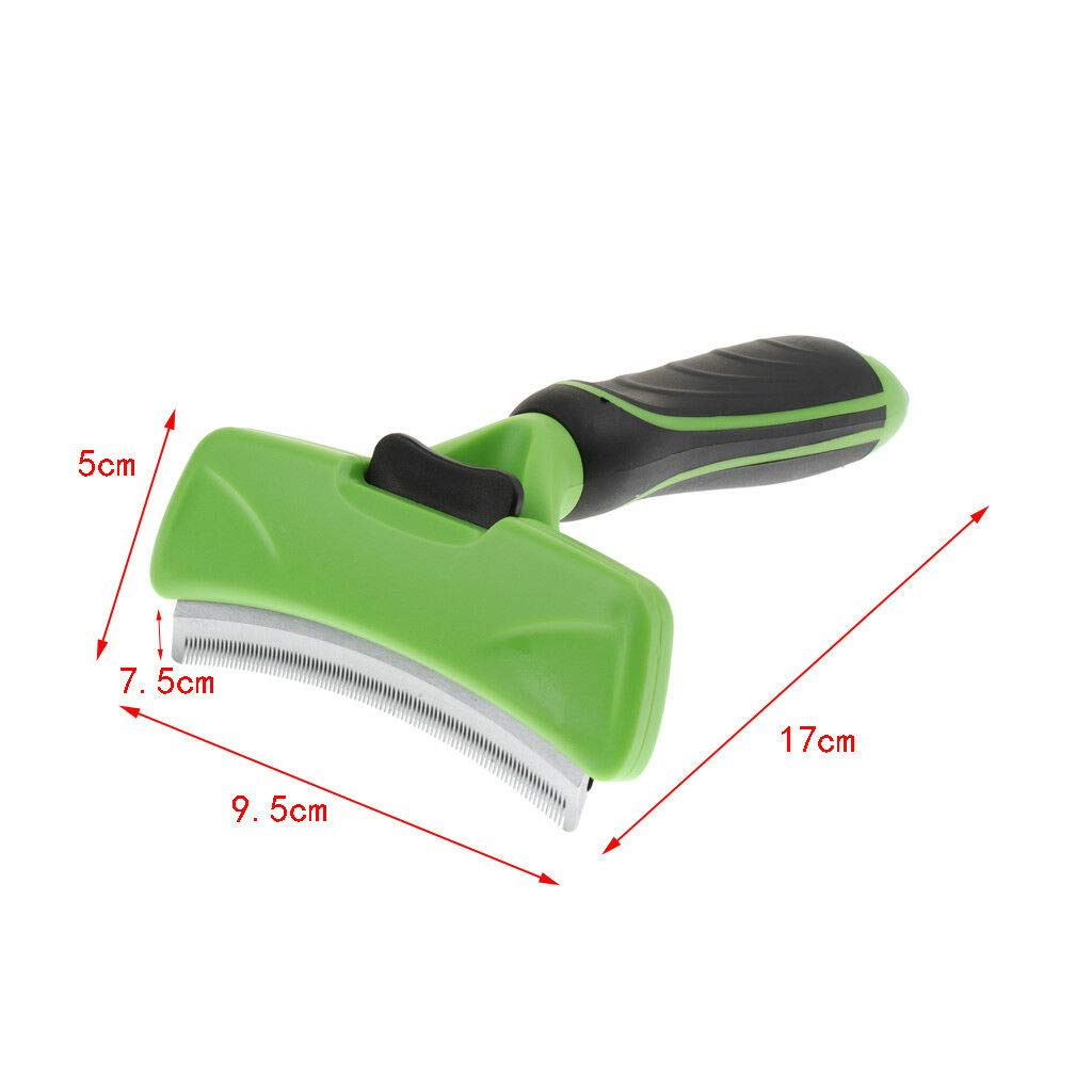 Agordo Pet Grooming Brush Reduces Shedding Professional Deshedding Tool for Dogs Cats (Size - M)