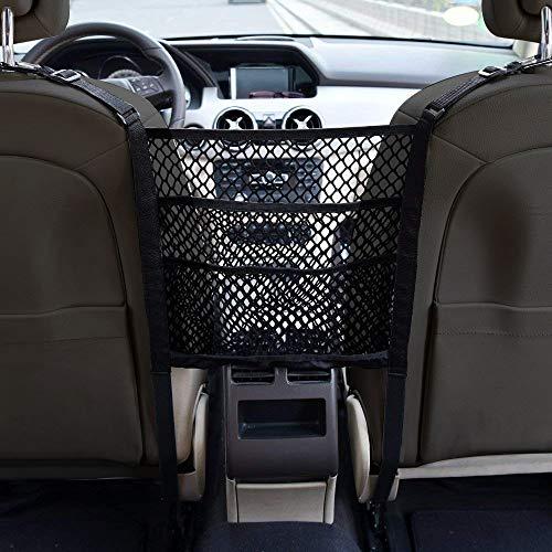 NatHom Universal Car Seat Storage Mesh/Organizer for Phone Purse Bag Pets Children Kids Disturb Stopper