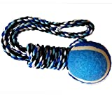 Pets Empire 13' Inch Rope Tug Toy with a Tinnes Ball Dog Chew Toy(Color May Vary)