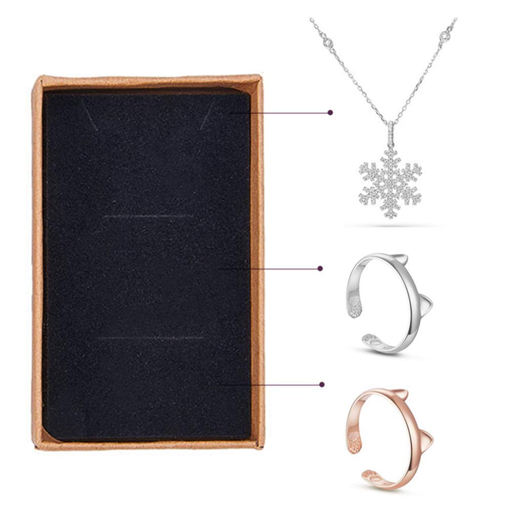 18pcs Small Size Kraft Rectangle Cardboard Jewelry Boxes for Jewelry Earring Necklaces Ring Accessaries