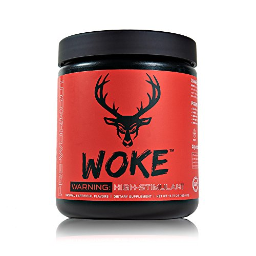 Bucked Up - Woke Blue Raz - HIGH STIM Pre Workout - Best Tasting - Focus Nootropic, Pump, Strength and Growth, 30 Servings