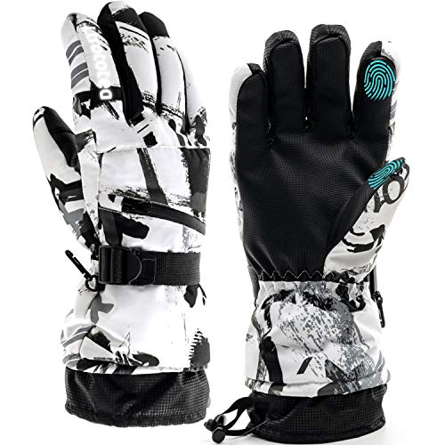 Ski Gloves, Snow Winter Gloves Warm Touchscreen Gloves Waterproof Outdoor Motorcycle Gloves (Large)