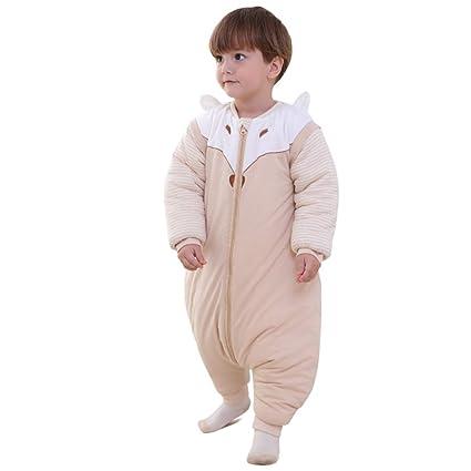 AZUO Bebé Invierno Pierna Partida Espesar Saco De Dormir Algodon Organico Pijamas (0-1