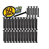 "Window Pro Black 60 Pack Shutter Pegs 3"" Spikes Fastener Loks (Black)"