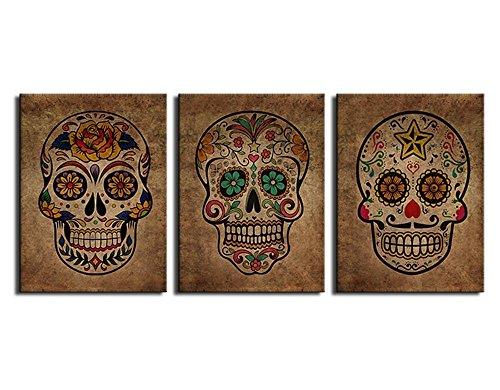 Lienzo Arte de la pared Azúcar Cráneo Pintura abstracta de la ...
