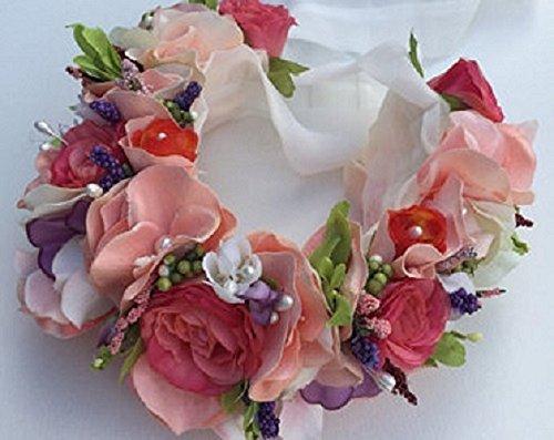 Luxurious handmade, one of a kind silk flower wreath