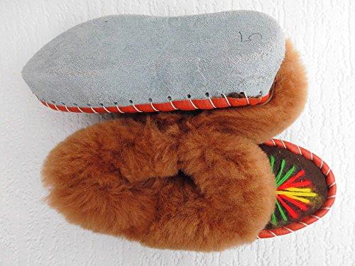 LAMMFELL Warme HAUSSCHUHE Gr.34-34,5 NEU, Schaffell/-leder (Made in Poland 16.12.387.11A17)