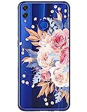 Oihxse Case Transparente Suave TPU Compatible con Huawei Honor 20 Pro Funda [Lindo Caricatura Flor Serie Dibujos] Cristal Protector Carcasa Anti Rasguños Bumper Cover-Flor