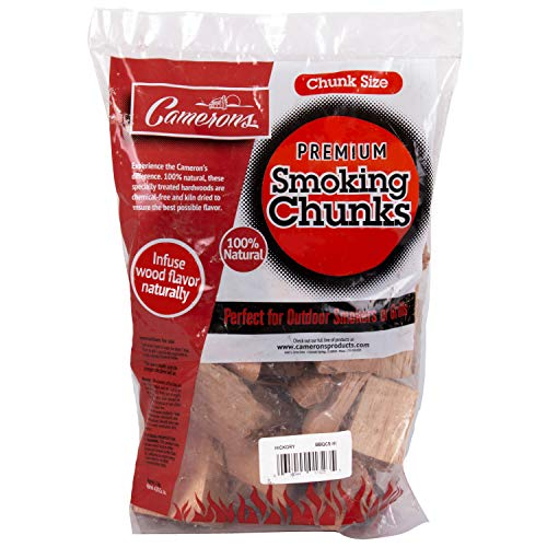 Camerons Products Smoking Wood Chunks (Maple)- Kiln Dried BBQ Large Cut Chips- All Natural Barbecue Smoker Chunks- 5 Pound Bag