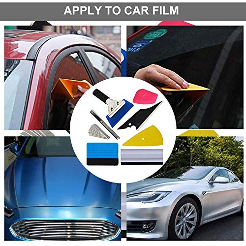 Vehicle Glass Protective Film Car Window Wrapping Tint Vinyl Installing Tool 8 PCSIncluding Squeegees Scrapers Film Cutters Vinyl Wrap Tool Kit Set Vehicle Wrap Accessories