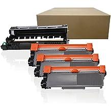 (1Drum+3Toner) Inktoneram Replacement High Yield toner cartridges & drum for Brother TN660 TN630 DR630 DR-630 TN-660 TN-630 HL-L2300D HL-L2320D HL-L2340DW HL-L2360DW HL-L2380DW MFC-L2700DW