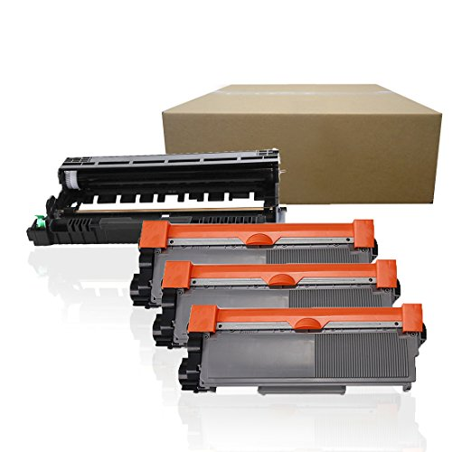 Inktoneram Compatible Toner Cartridges & Drum Replacement for Brother TN660 TN630 DR630 DR-630 TN-660 TN-630 HL-L2300D HL-L2320D HL-L2340DW HL-L2360DW HL-L2380DW MFC-L2700DW ([Drum, 3-Toner], 4PK)