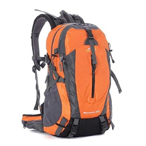 LQABW Cinturón Especiales Al Aire Libre Mochilero Montañismo Mujeres De Los Hombres Del Recorrido Del Hombro De Caminar Impermeables Mochila,Blue Orange