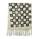NOVICA Black and Ivory 100% Cotton Shawl, 'Collective Wisdom'