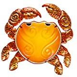 "perfect patio wall design ideas Patio Eden - Metal and Glass Crab Wall Art - 12.5"" - Perfect Patio Decoration - Indoor Or Outdoor Hanging Beach Decor - Easy To Hang"