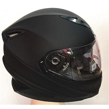 LOLIVEVE Cascos Modulares Unisex para Casco De Moto Cara Completa Doble Visera Hembra Vintage Hembra