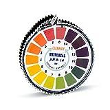 pH Test Strips, Luxway Universal pH Strips Litmus Paper Roll for Acidic Alkaline Test, pH 0-14 Full Measuring Range (5M/16.4Ft)