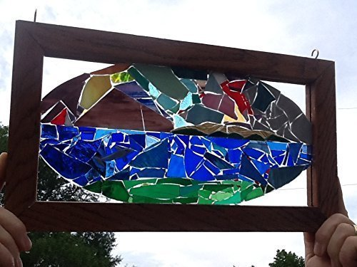 Dolphin Stained Glass Window Art Sun Catcher