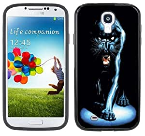 Black Panther Handmade Samsung Galaxy S4 Black Bumper Hard Plastic Case