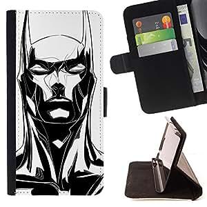 LONG EARS BLACK MAN BAT WHITE ART/ Personalizada del estilo del dise???¡Ào de la PU Caso de encargo del cuero del tir????n del soporte d - Cao - For Samsung Galaxy S3 Mini I8190Samsung Galaxy S3 Mini I819