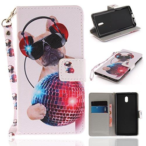 Cuir Nokia PU Fleur pour Portefeuille Rétro 3 3 Etui Nokia Coque mode Chien BONROY Coque de colorée Etui Flip Housse Premium Support 5w7OvScTq
