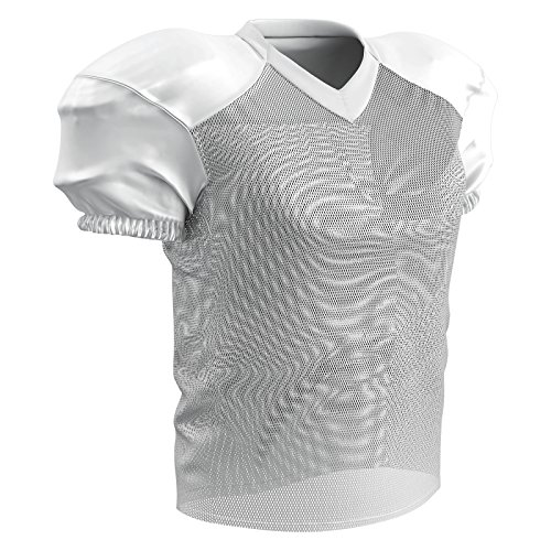 CHAMPRO Stretch Polyester Practice Football Jersey, White, 3X-Large