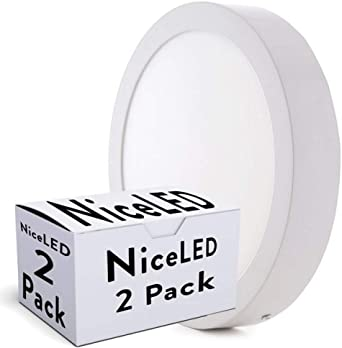 Greenice | Pack 2 Plafón LED Superficie Ø295Mm 24W 1900Lm 30.000H | Blanco Cálido: Amazon.es: Iluminación