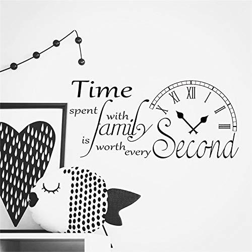 jiuyaomai Inspirado Etiqueta de La Pared Cita Reloj Tiempo Pasado ...