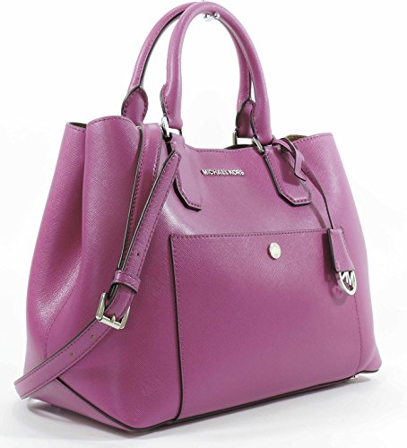 Michael Kors Fuschia Luggage Large Greenwich Leather Tote Grab Bag Purse by Michael Kors (Image #2)