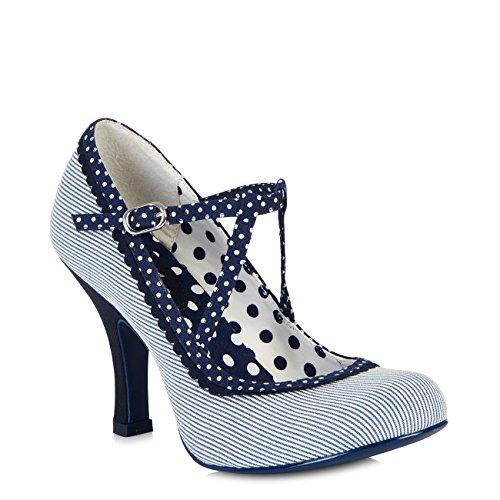 Ruby Shoo Women's Jessica Mary Jane Pumps & Matching Riva Bag Blue White dn0Z4sjBqQ