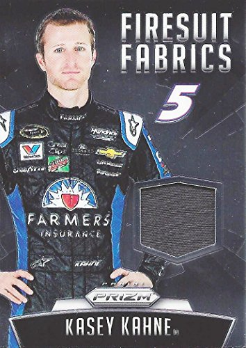 KASEY KAHNE 2016 Panini Prizm Racing FIRESUIT FABRICS (Certified Race-Used Memorabilia) #5 Farmers Team Rare Insert Relic Collectible NASCAR Trading Card