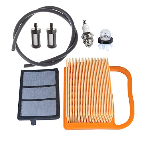 HIPA 4238 140 4401 Air Filter with Primer Bulb Fuel Tune Up Kit for STIHL Concrete Cut Off Saw TS410 TS410Z TS420 TS420Z