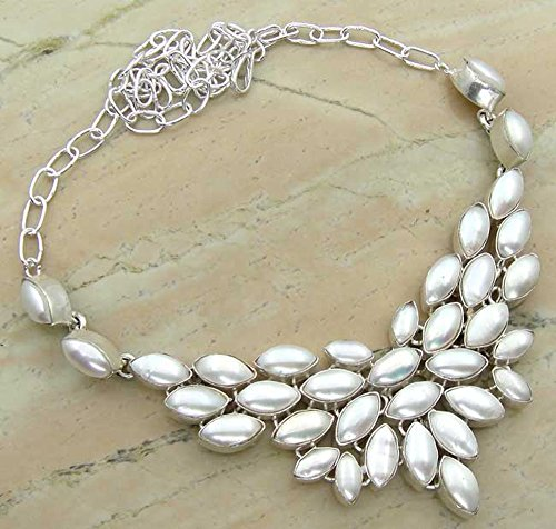 Genuine Pearl 925 Silver Overl