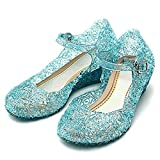 L-Peach Princess Girls' Cute Sparkle Sandals Fancy Dress Up Jelly Party Dancing Cosplay Shoes